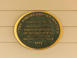 The National Register of Historic Places sign